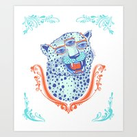 Cat Glasses Art Print