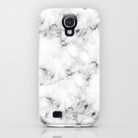 Galaxy S4 Cases featuring Real Marble  by Grace