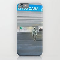iPhone Cases featuring Flying Cars to the Right by Scott Listfield