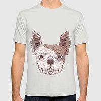 Bulldog Mens Fitted Tee Silver SMALL
