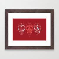 shoes make a skull Framed Art Print