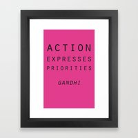 Action Gandhi Quote Framed Art Print