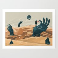 The Wanderer And The Des… Art Print