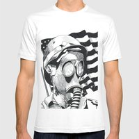 Silence Mens Fitted Tee White SMALL