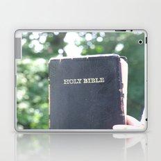 Holy Bible w/ bokeh Laptop & iPad Skin