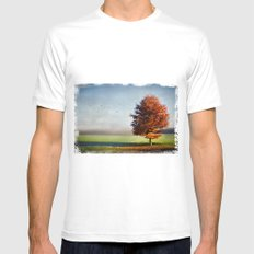 dressed in autumn Mens Fitted Tee SMALL White