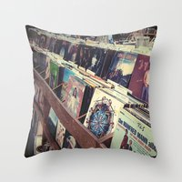 The Record Store (An Ins… Throw Pillow