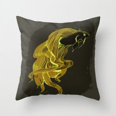 Mean Fighting Fish Throw Pillow