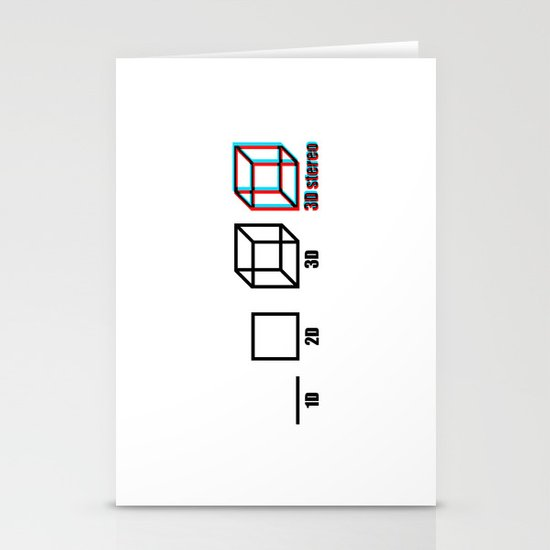 3D stereo Stationery Card
