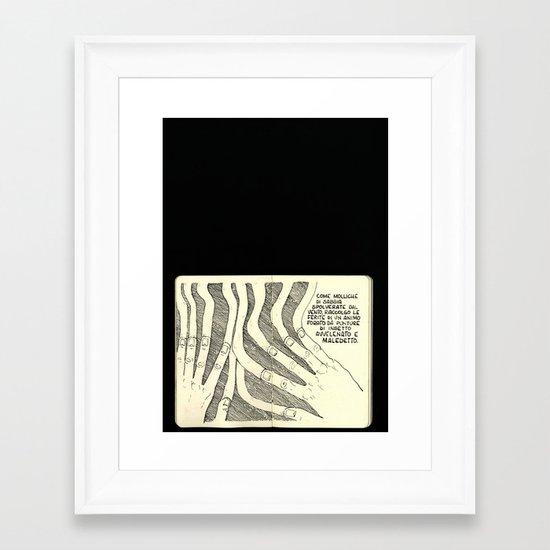 Molliche Di Sabbia Framed Art Print