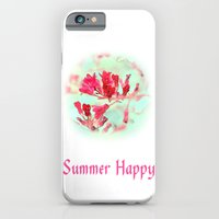 iPhone & iPod Case featuring pretty pink summer flowers, summer happy floral photo art. by NatureMatters