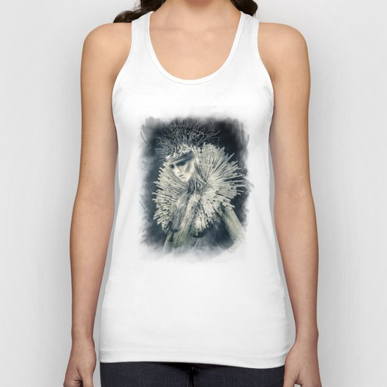 Dark Portrait III  (colour option) Unisex Tank Top