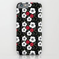 Anemone Print on Black iPhone 6 Slim Case