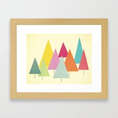 Fir Trees Framed Art Print