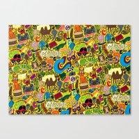 C Pattern Canvas Print