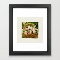 A Basket Of Roses 'just … Framed Art Print