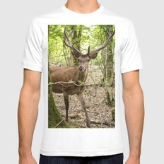 forest & deer Mens Fitted Tee White SMALL