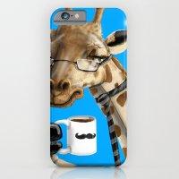 iPhone & iPod Case featuring All Business Giraffe by awkwardyeti