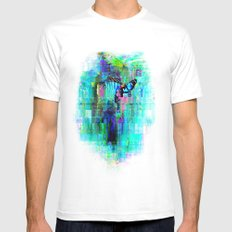 Overflow White SMALL Mens Fitted Tee