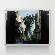 Mech behind a back alley Laptop & iPad Skin