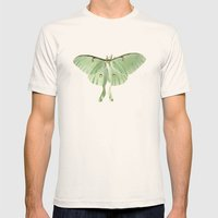 Luna Moth Mens Fitted Tee Natural SMALL