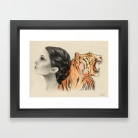Two Sides of the Crown Framed Art Print