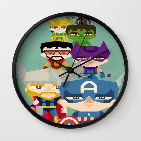 avengers 2 fan art Wall Clock