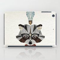 raccoon nerd iPad Case