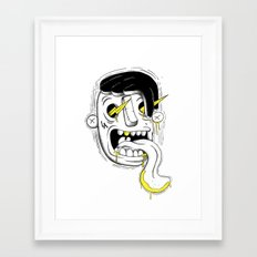 Bolt eyes Framed Art Print