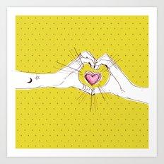 Heart Hands Art Print
