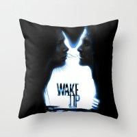 Wake up.....(Donnie Darko Fanart) Throw Pillow