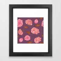 Carnations & Crickets Framed Art Print