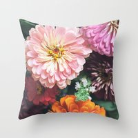 Buy Me Flowers Throw Pillow