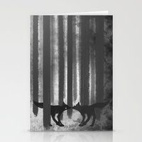foxes in the forest Stationery Cards