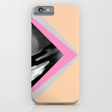 Peachy with Blue Triangles iPhone 6 Slim Case
