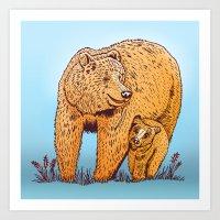 Mother Bear Art Print