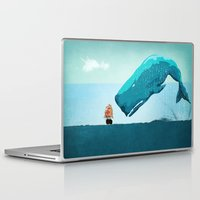 whale Laptop & iPad Skins featuring Whale by mark ashkenazi