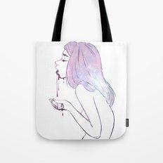 Puke the cosmos Tote Bag