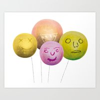 Happy Balloons Art Print
