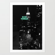 Art Print featuring New Yorker by 2sweet4words Designs