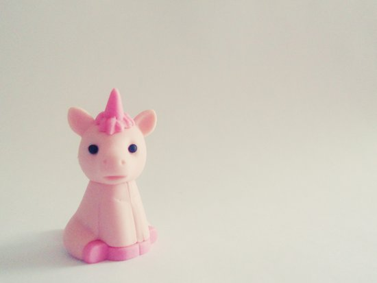 Pink Unicorn Sees You Art Print