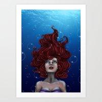 Tears Of A Mermaid Art Print