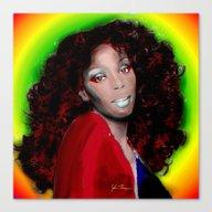 Canvas Print featuring Donna Summer by JT Digital Art