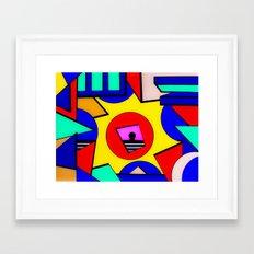 80's Punch Framed Art Print