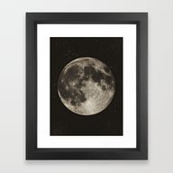 The Moon  [Sans Type] Framed Art Print