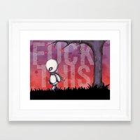 FUCK THIS  Framed Art Print