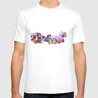 Kirby Friends Mens Fitted Tee White SMALL