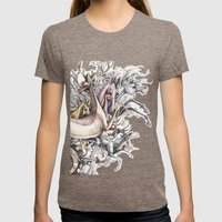 Twisted Menagerie Womens Fitted Tee Tri-Coffee SMALL