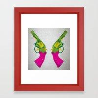 Play Guns Framed Art Print