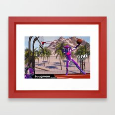 Dab On A Dunk Framed Art Print
